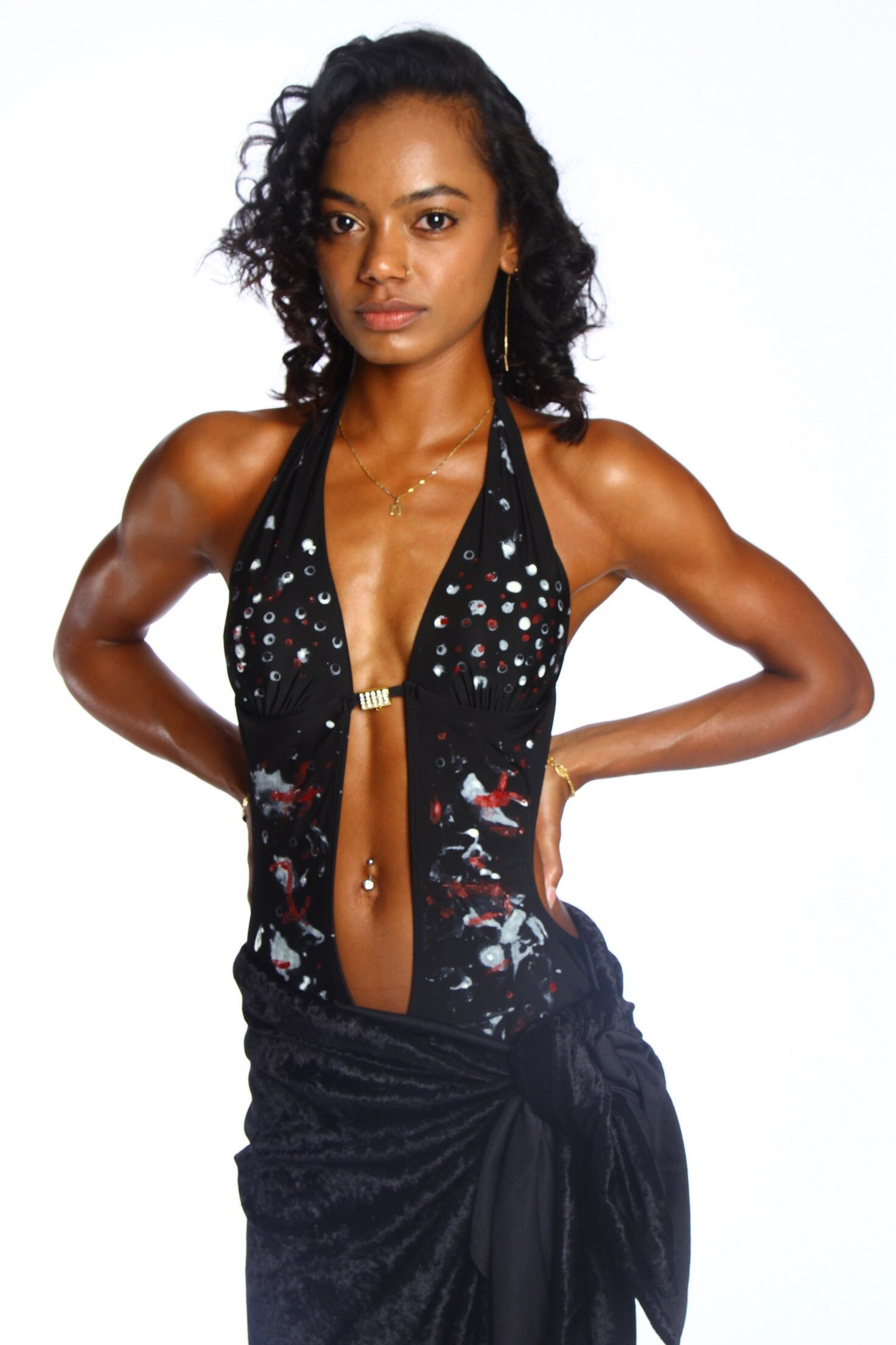 WOMEN'S BLACK STAR BATHING SUIT-SOLD OUT