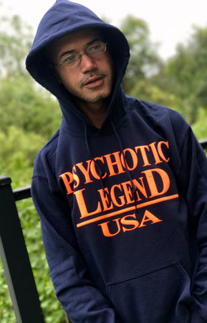 HALL OF FAME HOODIE NAVY/ORANGE