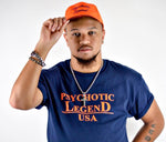 HALL OF FAME NAVY/ORANGE T-SHIRT