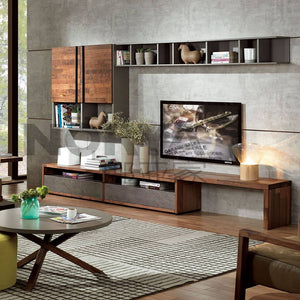TV Consoles & Wall Features - D5 American Walnut Collection