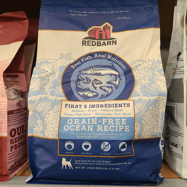 Redbarn Grain Free Ocean Recipe Dog Food, 4 LB bag