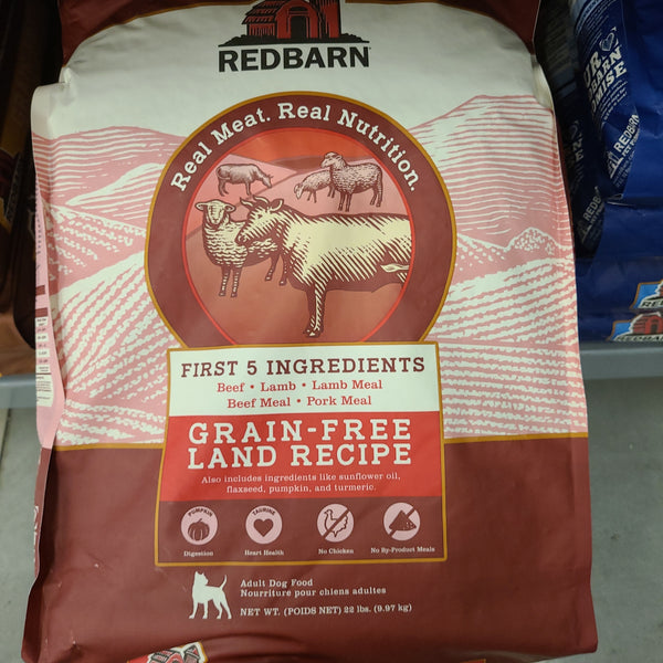 Redbarn Grain-Free Land Recipe Dog Food, 22 LB bag