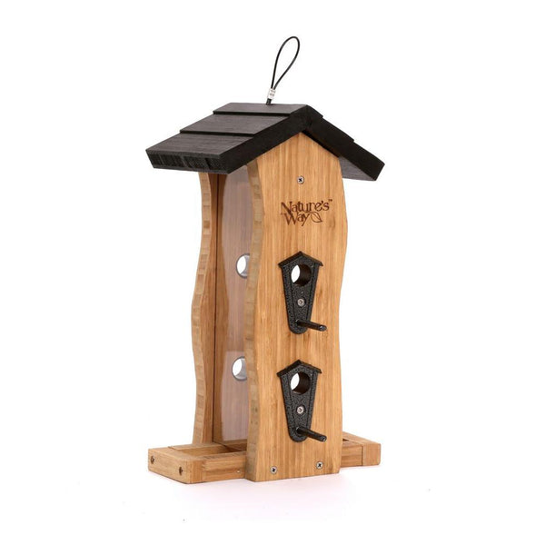 Bamboo Wave Bird Feeder