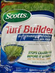 Scott's turf builder halts crabgrass preventer 5000