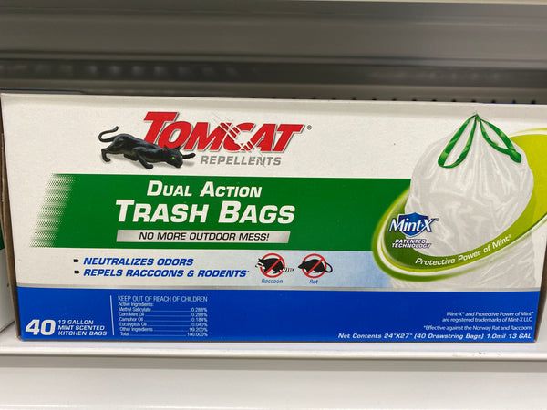 Tomcat repellents trash bags mint-x 13 gallon 8852923