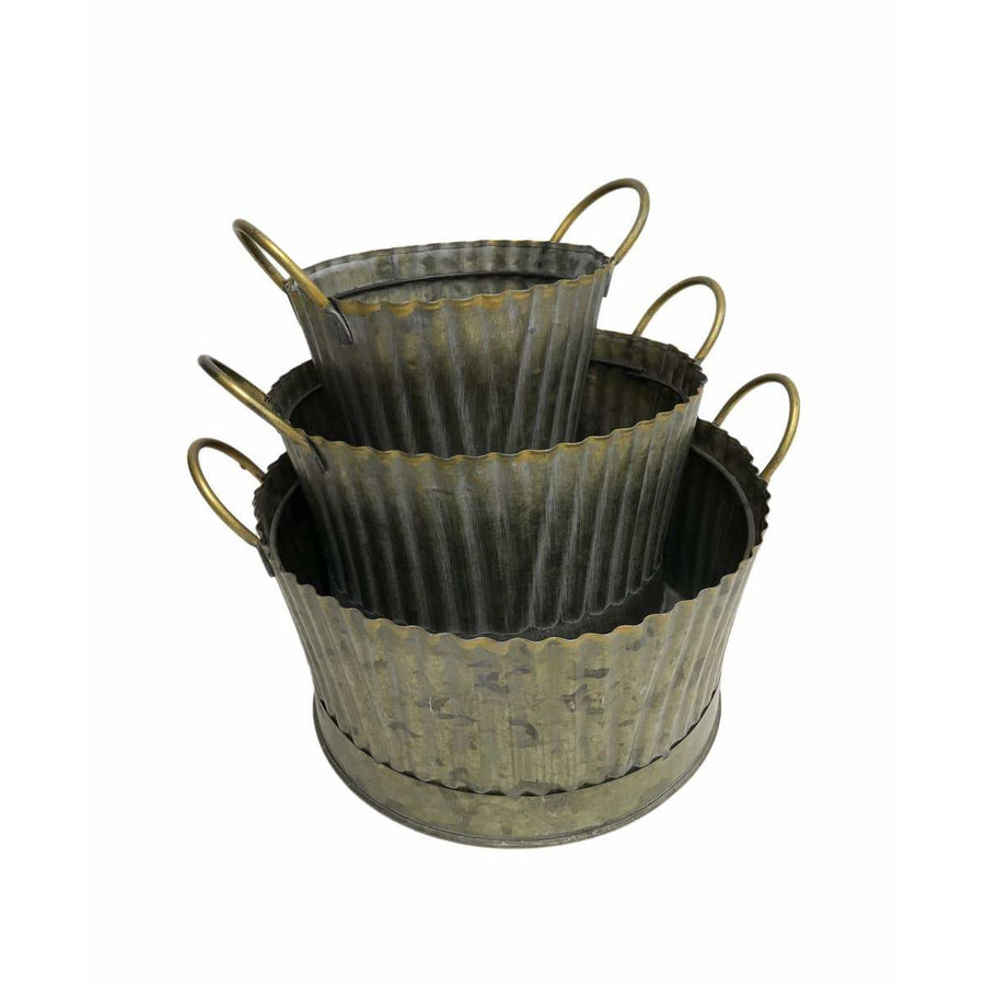 Fluted Round Planters