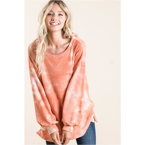 Orange Tie Dye Sweater