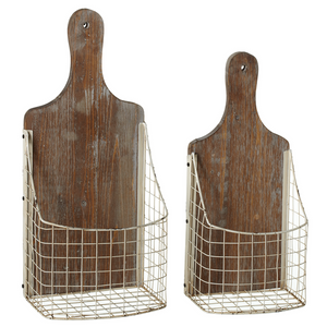 Cutting Board Wall Baskets Set of Two