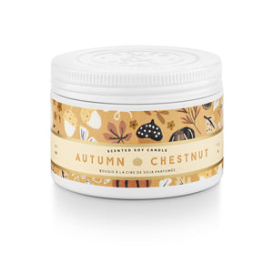 Autumn Chestnut Small Tin Candle