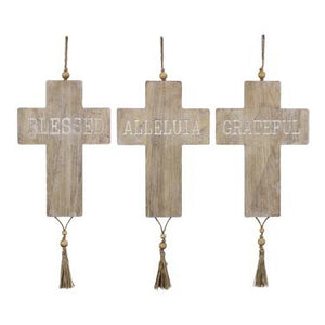 Wood Cross Wall Signs