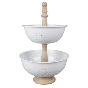 Tiered Enamel Basket Set