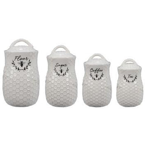 Honey Bee Canisters Set of 4