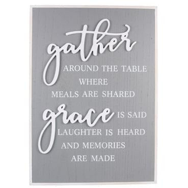 Gather Around The Table - Sign