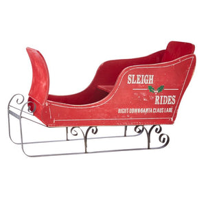 Distressed Red Sleigh