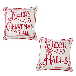 Holiday Message Pillow
