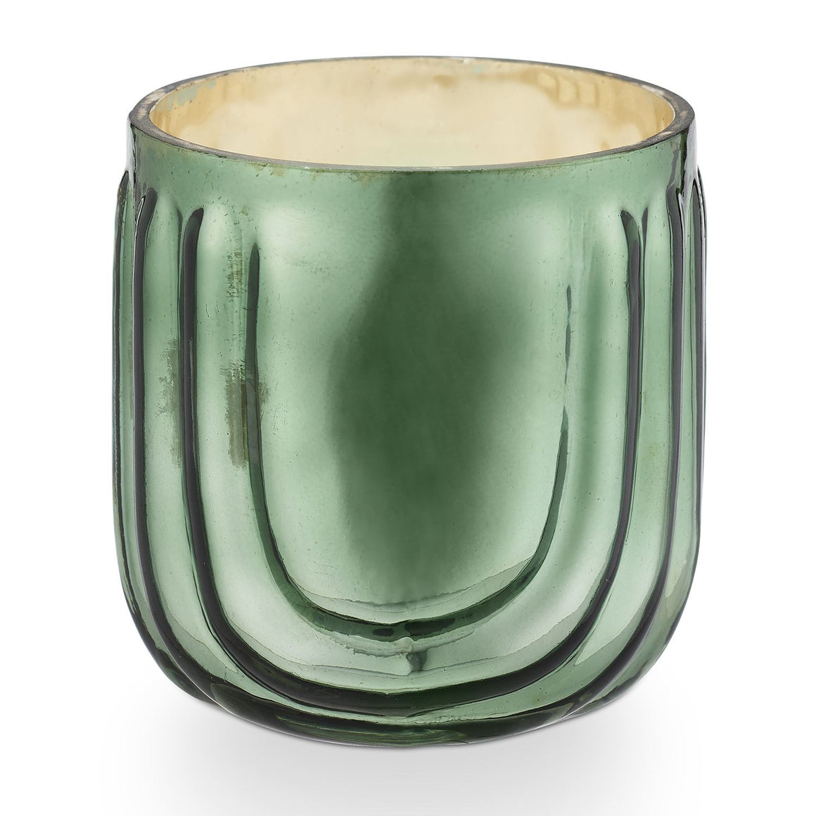 Evergreen Pressed Glass Candle