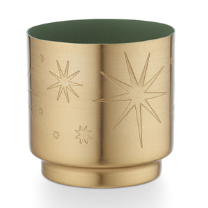 Evergreen Tiny Tinsel Glass Candle