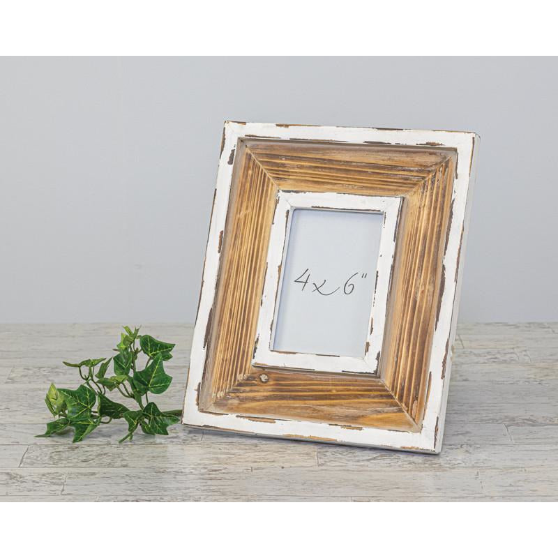 Antiqued Wood Photo Frame