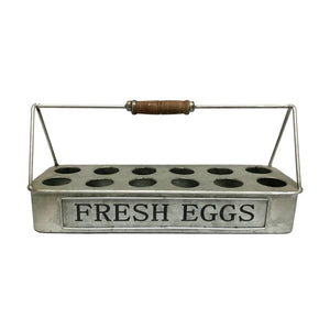 Fresh Eggs Metal Carrier