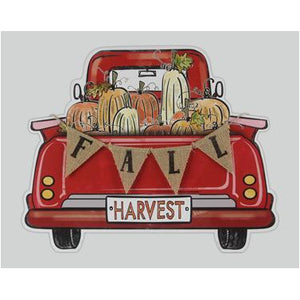 Wood Fall Harvest Truck Sign