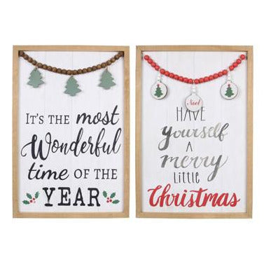 Framed Holiday Wall Signs