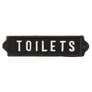 Toilets -  Iron Sign