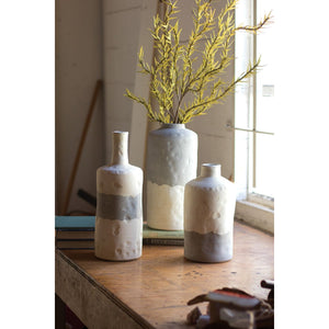 Ceramic Bottle Vases (Set of 3)