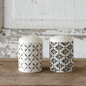 Norden Pattern Salt & Pepper Shakers