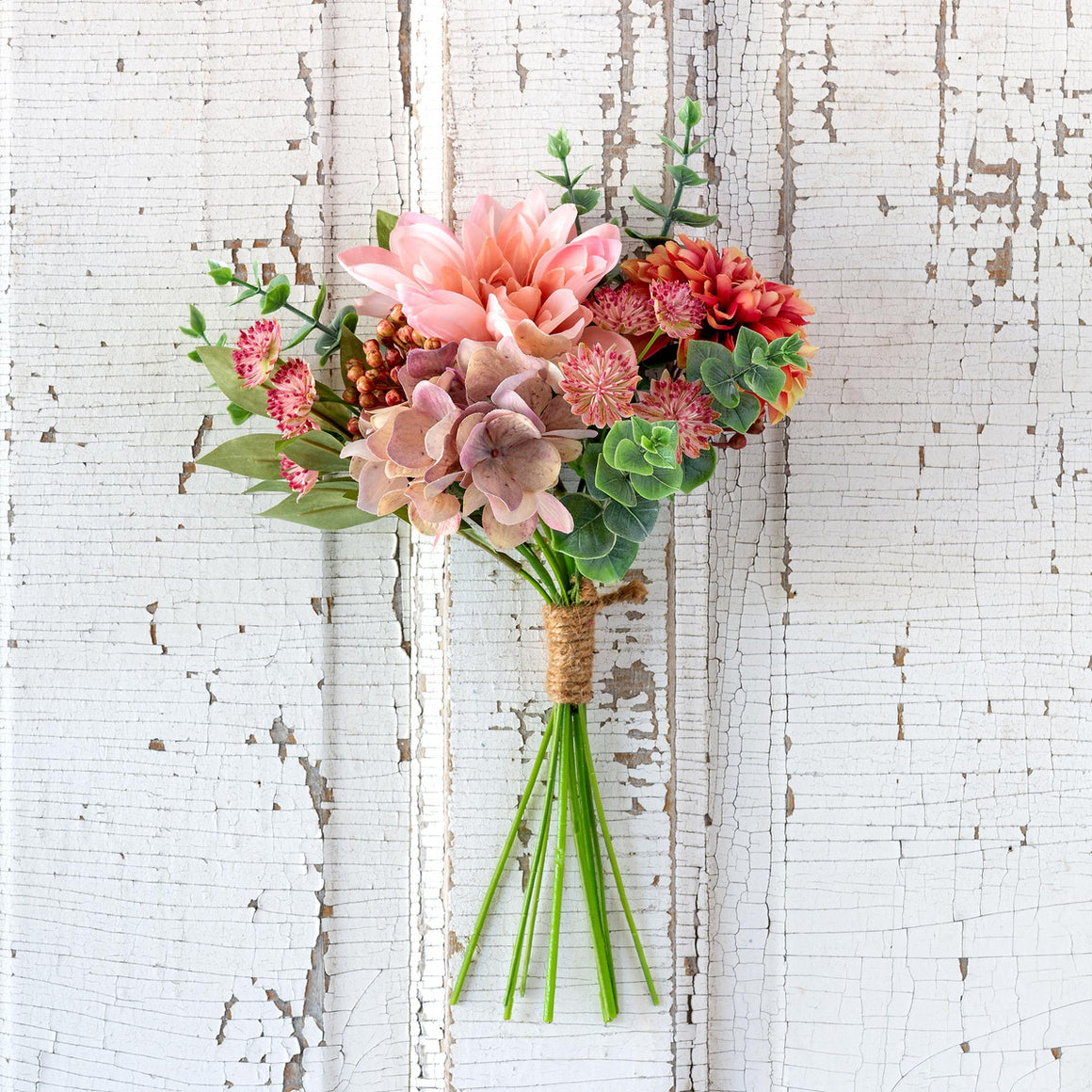 Dahlia And Eucalyptus Market Bouquet