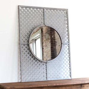 Metal Lattice Framed Mirror
