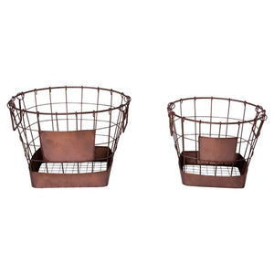 Rust Metal Baskets
