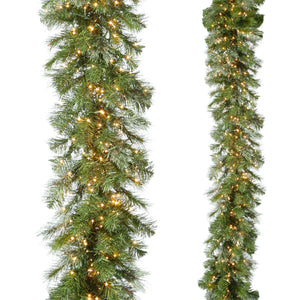 Snake Light Green Mixed Pine Garland