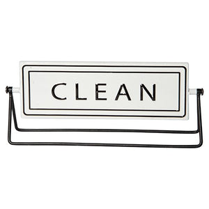 Metal Dirty/Clean Sign