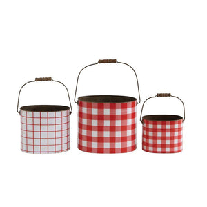 Farmhouse Holiday Tin Buckets