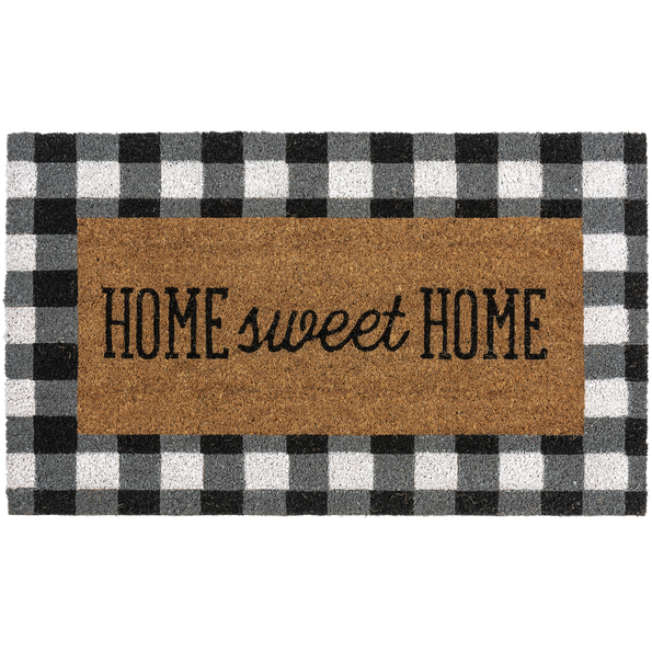 Home Sweet Home - Gingham Doormat
