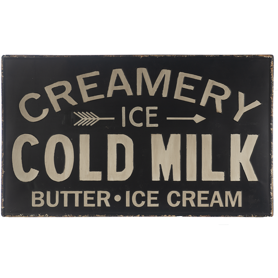 Creamery - Ice Cold Milk Sign