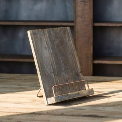 Aged Wooden Cook Book Stand