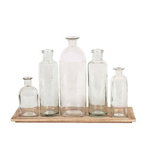 Bottle Vases and Tray