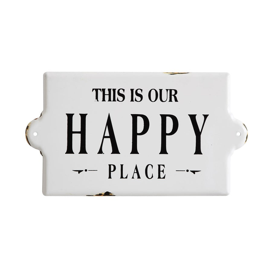 Happy Place Enameled Wall Decor
