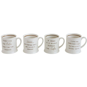 Stoneware Mug - Coffee Sayings