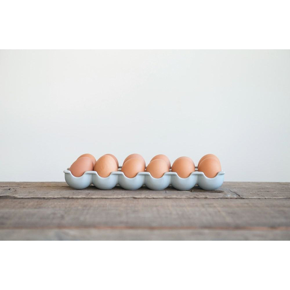 Stoneware Egg Holder
