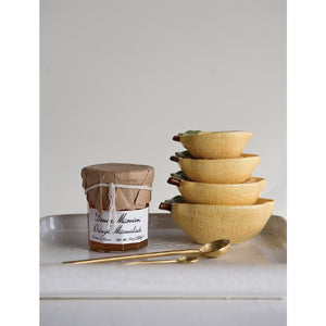 Lemon Stoneware Measuring Cups