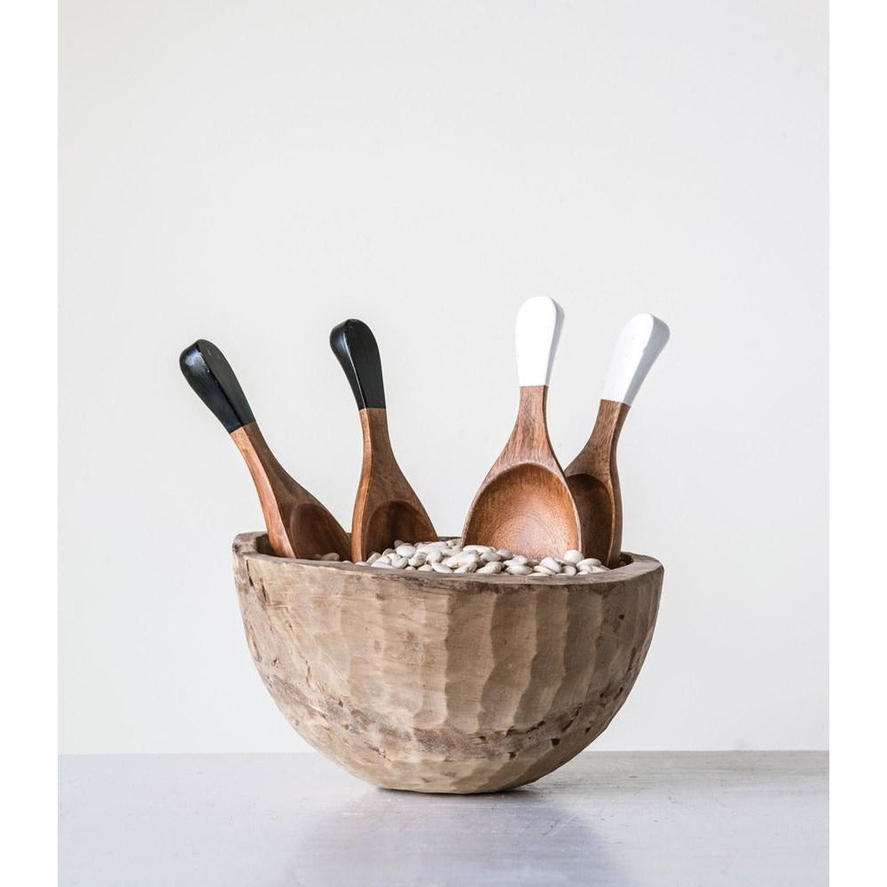 Hand-Carved Wood Salad Servers