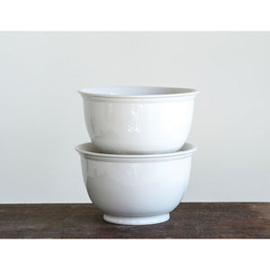 "Antique White 10"" Stoneware Bowl"
