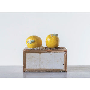 Stoneware Lemon Salt & Pepper Shakers