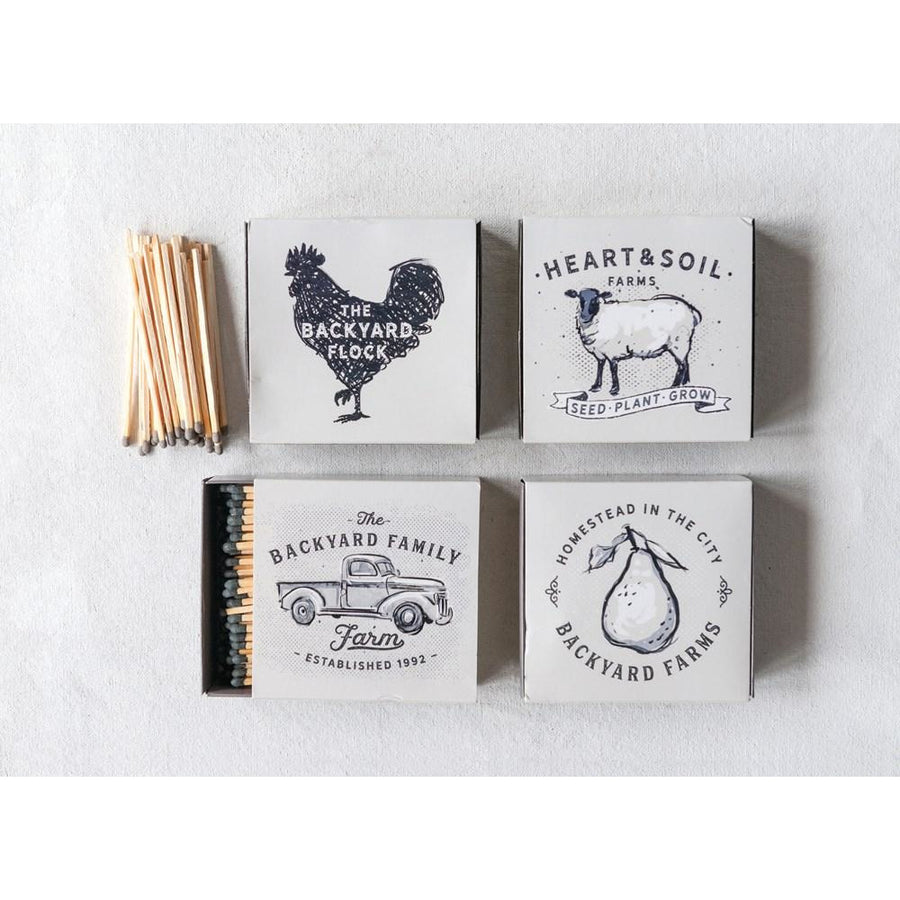 Farm Themed Match Boxes