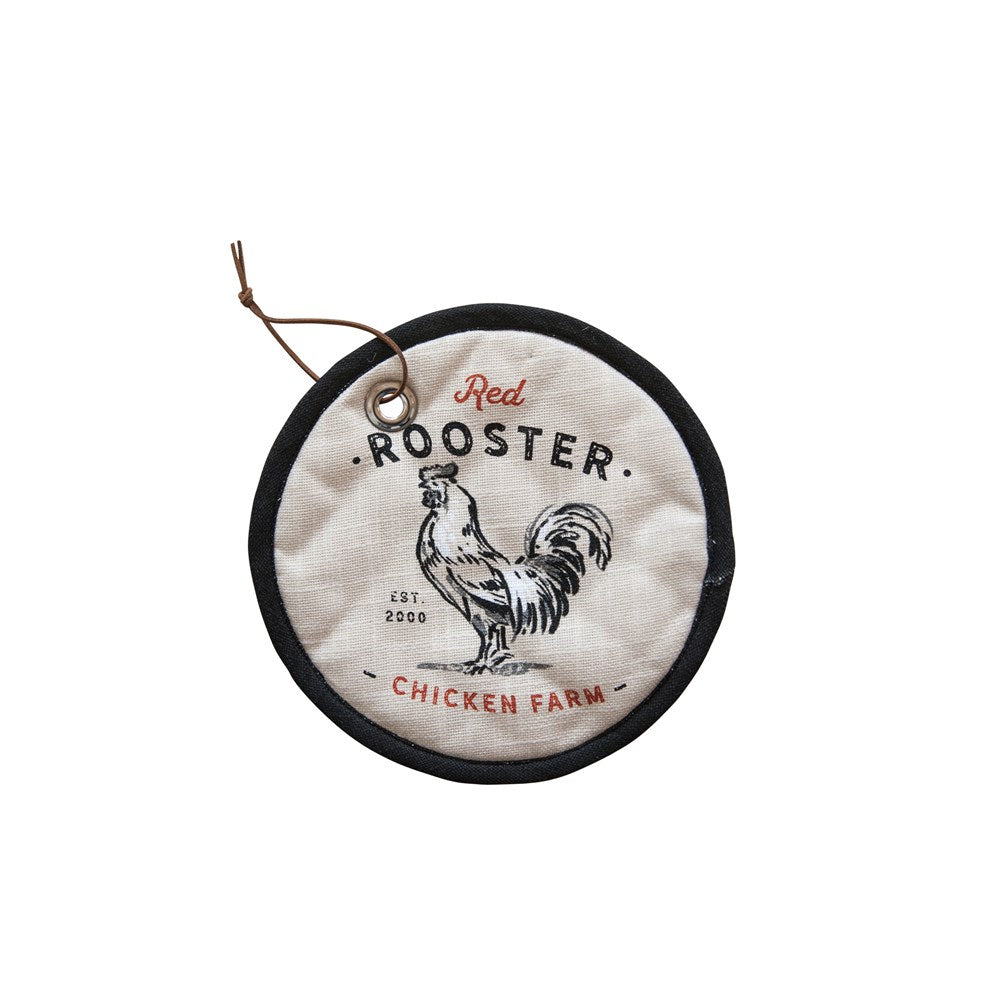 Red Rooster Pot Holder