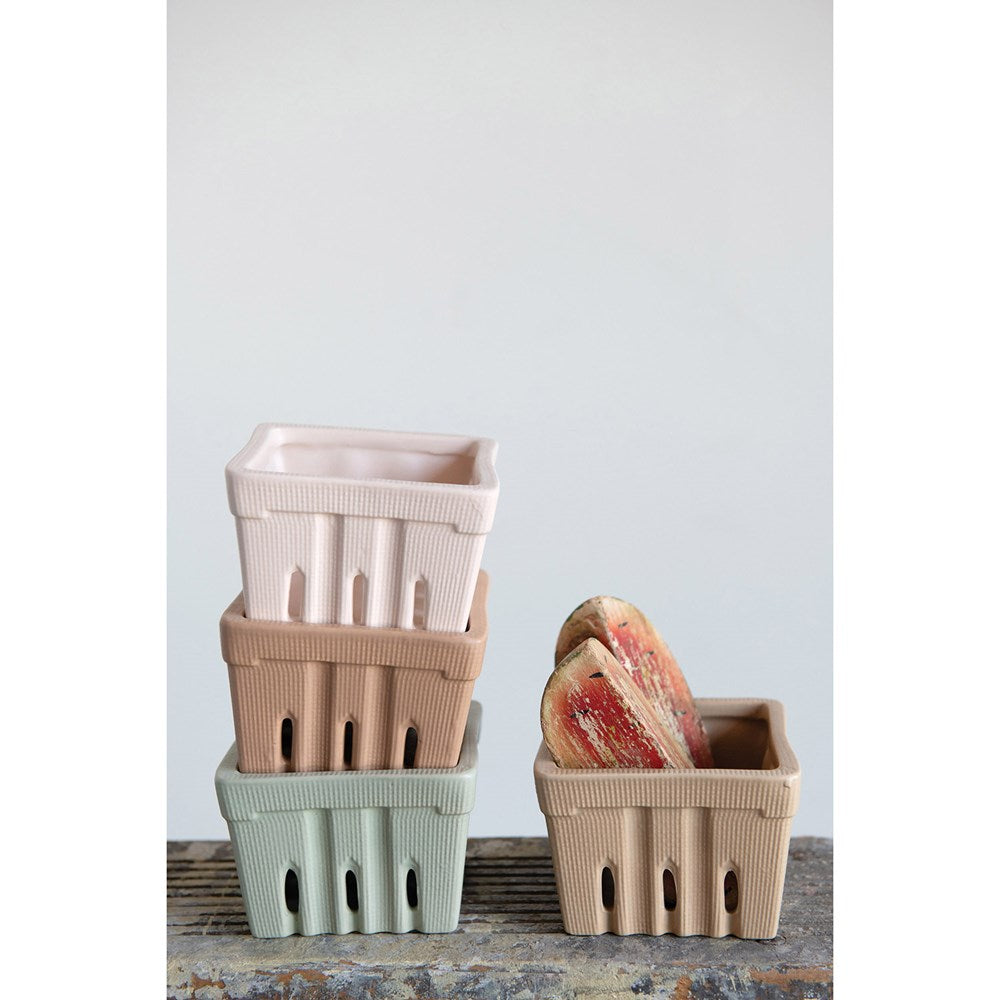 Stoneware Berry Baskets