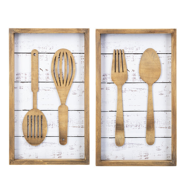 Utensil Shiplap Sign