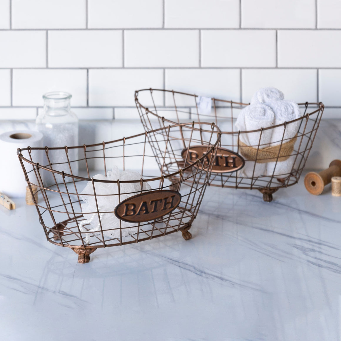 Rust Bath Baskets